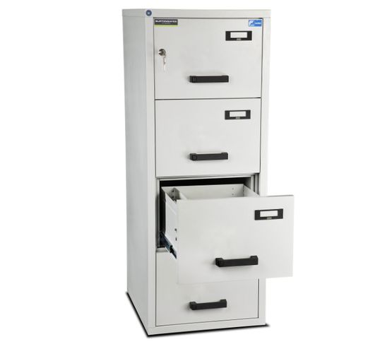 Burton Safes Fire Resistant Filing Cabinets - 4 Drawer