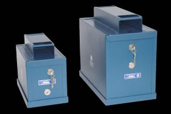 Checkmate Devices Limited Coin Chute Safes - WIS3CC2L-Industrial coin bag chute 2 lock complete