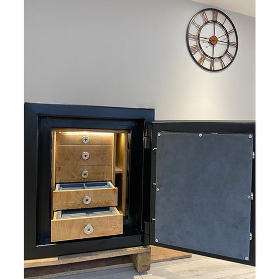 Lichfield Bespoke Safes Matt Jet Black Grade 5 Jewellery Safe - 5 Jewellery Drawers