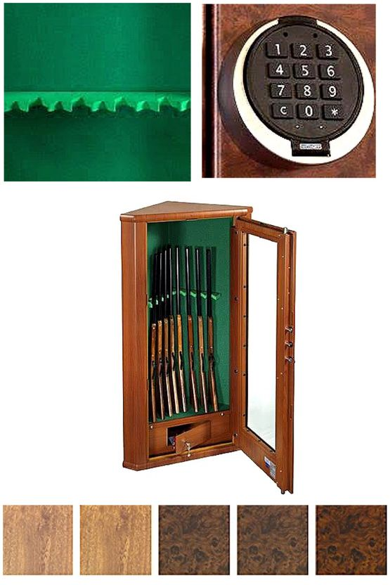 Lichfield Luxury Safes  Principe S2 Gun Cabinet (Holds up to 8 Guns) - BW 8 Gun Rack
