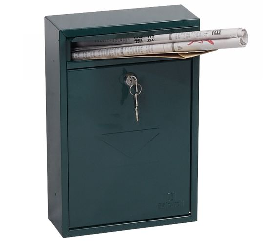 Phoenix Safes Front-loading Mail Boxes MB Series - LETRA MB0116KG Green