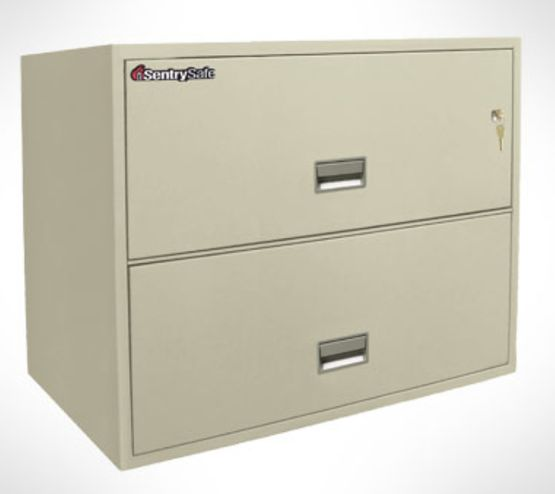 2 drawer lateral filing cabinet - 2L3610L  Light Grey 2L3610L Light Grey