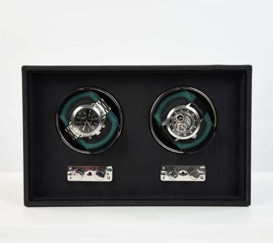 Stackers Goodwood Watch Winders Double Racing Green - Racing Green