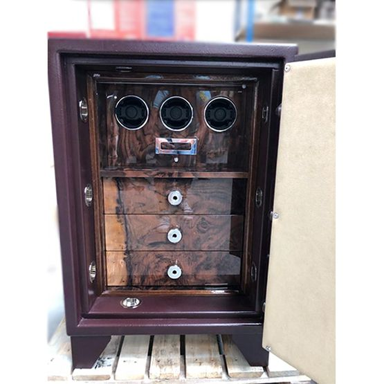 Matt Burgundy Grade 1 Jewellery/Watch Winder Safe - Lichfield Bespoke Safes